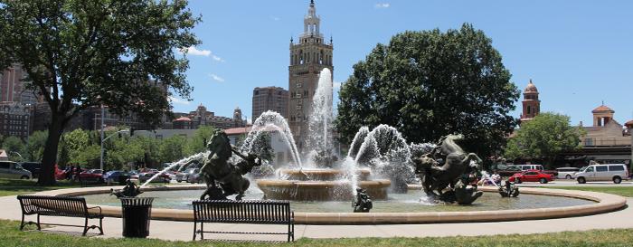 Kansas City JC Nichols Plaza Fountain